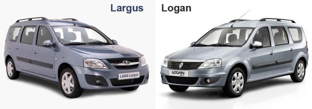 Сравнение Лады Ларгус с Рено Логан