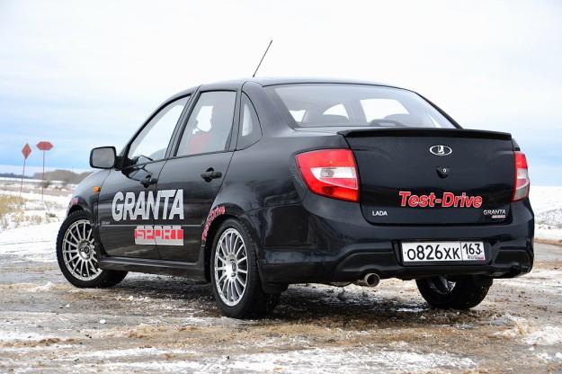 Lada Granta Sport вождение автомобиля