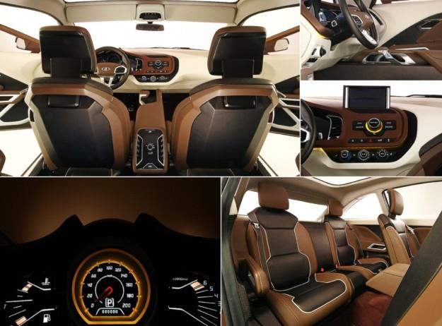 В Сети появились первые снимки интерьера Lada XRAY